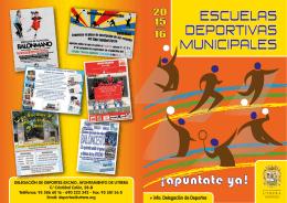 DIPTICO ESCUELAS - Ayuntamiento de Utrera