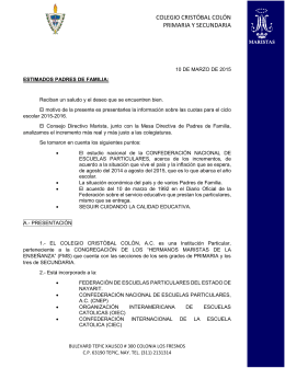 COLEGIO CRISTÓBAL COLÓN PRIMARIA Y SECUNDARIA