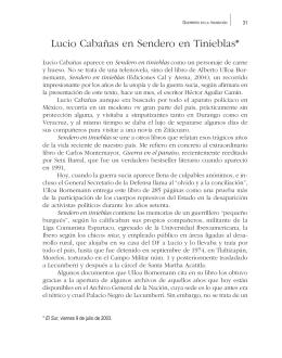 Lucio Cabañas en Sendero en Tinieblas*