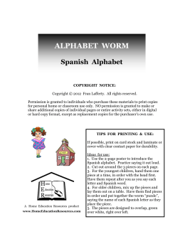 ALPHABET WORM - Home Education Resources