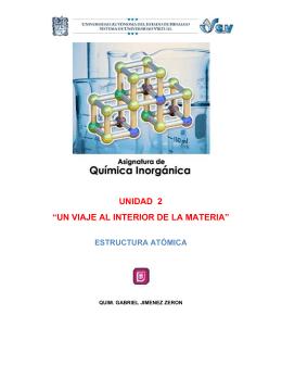 """"""" Estructura atómica""""."""