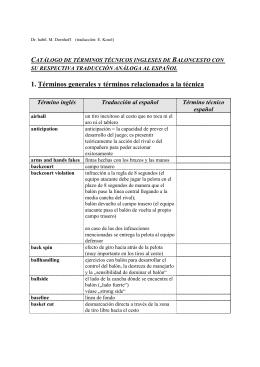 1. Términos generales y términos relacionados a la técnica