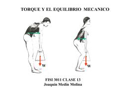 TORQUE Y EL EQUILIBRIO MECANICO