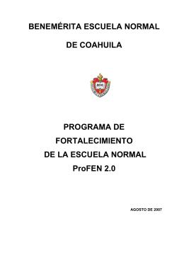 profen 2 (2007) - benemérita escuela normal de coahuila