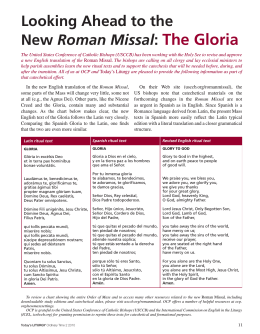 Looking Ahead to the New Roman Missal: The Gloria