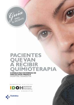 Pacientes que van a recibir quimioterapia índice ( pdf