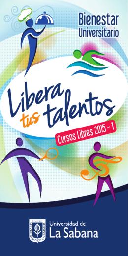 Cursos Libres 2015 - 1 - Universidad de La Sabana