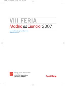 VIII Feria Madrid por la Ciencia 2007