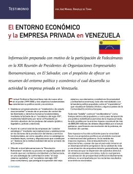 Testimonio: El entorno económico y la empresa privada en Venezuela