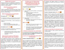 Folleto convenio COLOMBIA - ESPAÑA