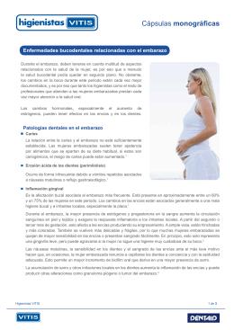 Enfermedades bucodentales relacionadas con el embarazo