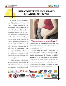 SUB COMITÉ DE EMBARAZO EN ADOLESCENTES