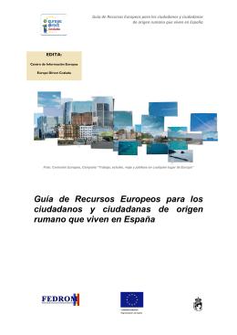 Guía de Recursos Europeos para los ciudadanos y ciudadanas de