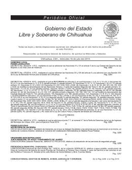 Miércoles 16 de julio del 2014 - Gobierno del Estado de Chihuahua