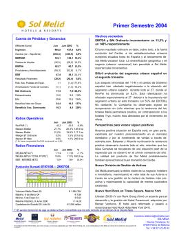 Informe Resultados Primer Semestre 2004