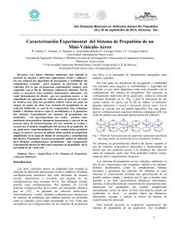 Caracterización Experimental del Sistema de Propulsión de un Mini