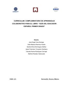 guía del educador español primer grado