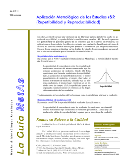 Repetibilidad y Reproducibilidad