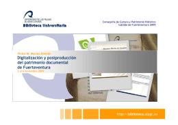 Digitalización y postproducción del patrimonio documental - e-Lis
