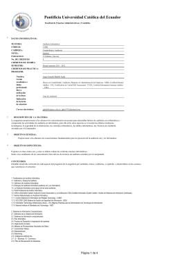 Elect.II: Auditoria Informatica - Pontificia Universidad Católica del