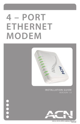 4 – PORT ETHERNET MODEM