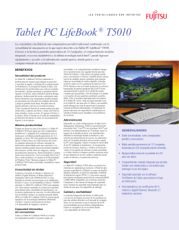 Tablet PC LifeBook® T5010