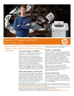 Impresora HP LaserJet serie P4015