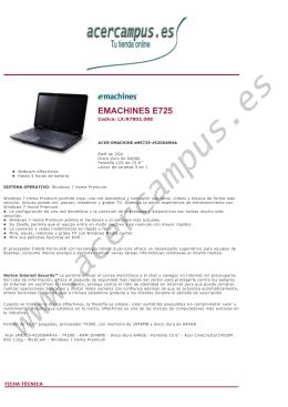 EMACHINES E725