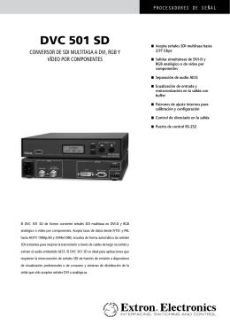 DVC 501 SD - Extron Electronics