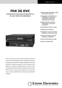 FOX 3G DVC - Extron Electronics