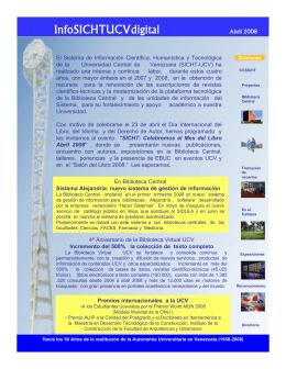 Abril - sicht - Universidad Central de Venezuela