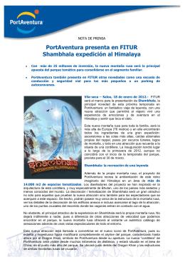 PortAventura presenta en FITUR Shambhala expedición al Himalaya