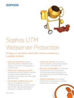Sophos UTM Webserver Protection