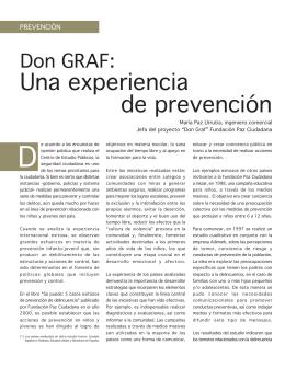 Don Graf: una experiencia de prevención