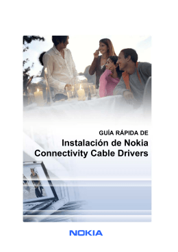 Quick Guide for Installing Nokia Connectivity Cable Drivers