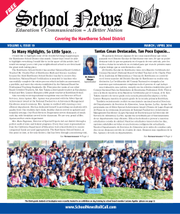 MarCH - School News Roll Call