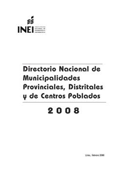 Directorio Nacional de Municipalidades Provinciales