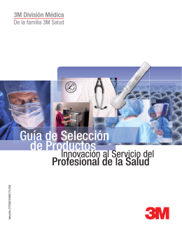 Catálogo de Productos - 3M División Médica - 3M