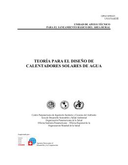 pdf teoría para el diseño de calentadores solares de agua