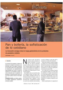 Pan y bollería, la sofisticación de lo cotidiano