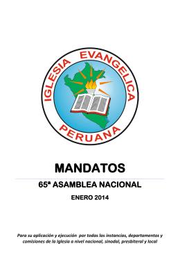 MANDATOS - Iglesia Evangélica Peruana