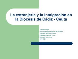 La extranjería y la inmigración en la Diócesis de Cádiz