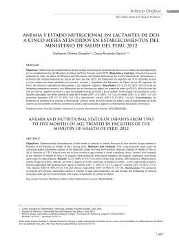 anemia y estado nutricional en lactantes de dos a cinco