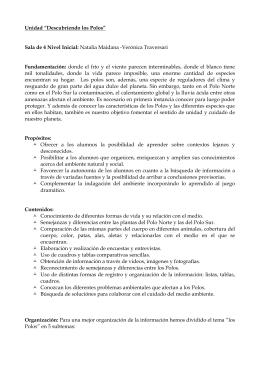 """Unidad """"Descubriendo los Polos"""" Sala de 4 Nivel Inicial: Natalia"""