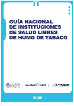 Guía nacional de instituciones de salud libres de humo de tabaco