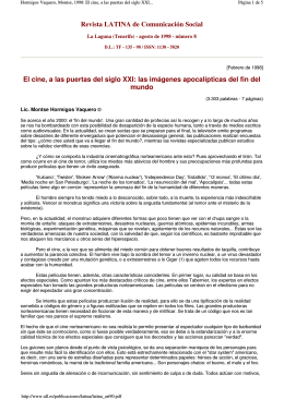 Revista LATINA de Comunicación Social El cine, a las puertas del