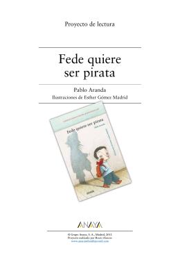 Fede quiere ser pirata (Proyecto de lectura)