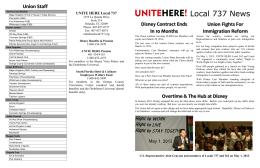 Local 737 News - UNITE HERE Local 737