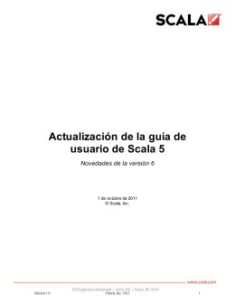 Scala 5 User`s Guide Update