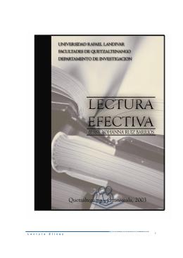 L e c t u r a E f i c a z - Universidad Rafael Landívar